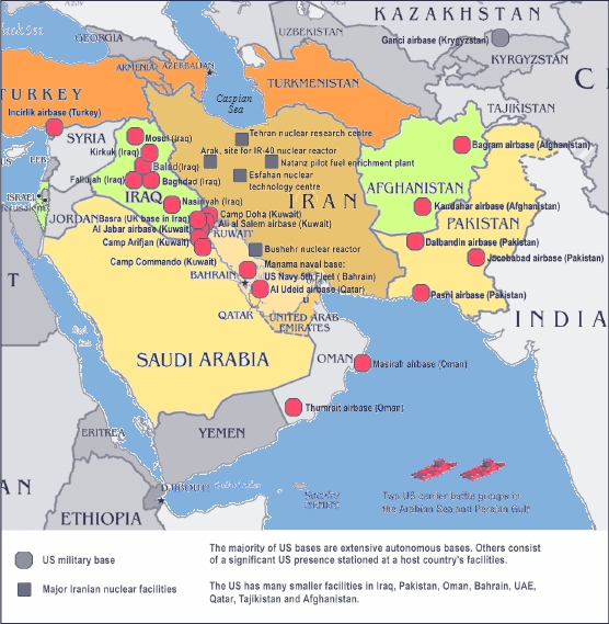Peace Action New York - Map of iraq us military bases